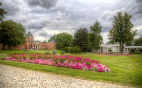 Picture the sky, flowers, Park, building, HDR, Germany, track, Germany, Parks