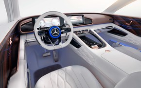 Picture Mercedes-Benz, the wheel, Vision, salon, 2018, Mercedes-Maybach, electrocreaser, Ultimate Luxury