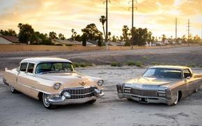 Picture retro, Cadillac, classic, 1968, 1955