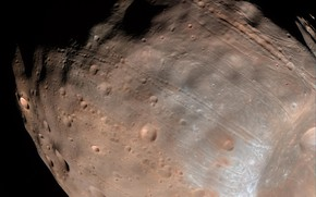 Picture satellite, Phobos, Mars
