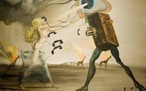 Wallpaper surrealism, picture, Salvador Dali, Salvador Dali, Modern Rhapsody
