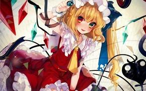 Picture girl, Touhou Project, Flandre Scarlet, Flandre Scarlet