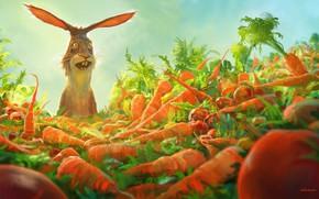 Picture joy, rabbit, carrots, amazement, Watership down carrots