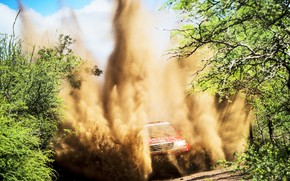 Picture Sand, Sport, Speed, Race, Lights, Toyota, Hilux, Rally, Dakar, Dakar, Rally, Sport, Toyota, The front