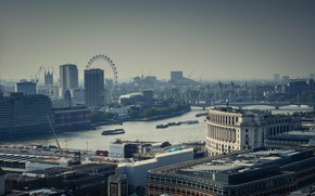 Picture city, the city, river, street, view, England, London, panorama, architecture, london, Thames, london eye, river, …