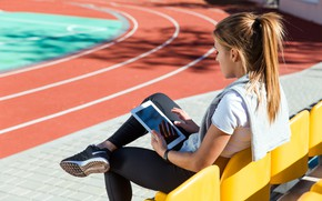 Picture tablet, athlete, female athlete