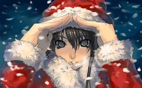 Picture winter, snow, new year, beautiful, Santa, Anime, Beauty, MyToy, Yukinoshita Was Load