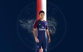 Picture wallpaper, sport, football, player, Neymar, Paris Saint-Germain