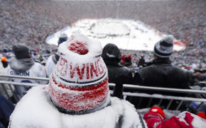 Picture Winter, Snow, Hat, Detroit, Hockey, Red Wings, Hockey, Detroit Red Wings, Winter Classic