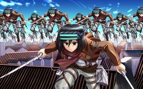 Picture girl, anime, crossover, japanese, uniform, seifuku, Shingeki no Kyojin, Attack On Titan, light novel, Toaru …