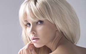 Picture look, girl, face, sweetheart, hair, blonde, lips, beautiful