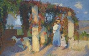 Picture picture, gazebo, Henri-Jean Guillaume Martin, The Arbour at Marquayrol, Henri Matrin, landscape