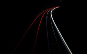 Wallpaper lights, road, night