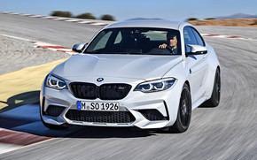 Picture movement, coupe, track, turn, BMW, 2018, F87, M2, M2 Competition
