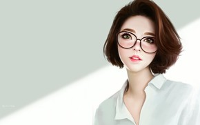 Picture girl, portrait, art, Alco SAP, Asian girl study