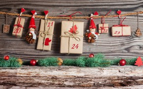 Picture decoration, toys, tree, New Year, Christmas, gifts, Christmas, vintage, wood, Merry Christmas, Xmas, gift, decoration, …
