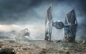 Picture Star Wars, R2-D2, TIE fighter, C-3PO, Rebel Droids, Lee Rouse