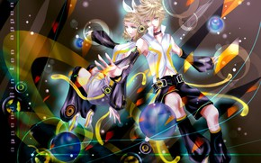 Picture two, Vocaloid, Vocaloid, Kagamine Len, Kagamine Rin