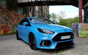 Picture Ford, Focus, graffiti, blue, 2017