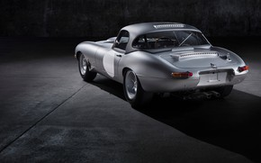 Picture grey, background, Jaguar, shadow, back, steel, E-Type Lightweight