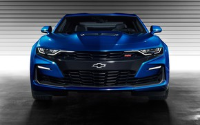 Picture Chevrolet, Camaro SS, front view, 2019