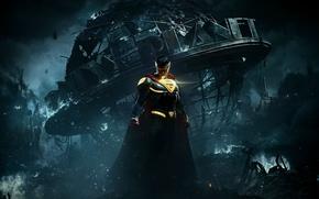 Picture game, alien, man, Superman, hero, Clark Kent, strong, Injustice, uniform, muscular, yuusha, seifuku, Kal-El, Injustice …