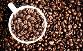 Picture background, coffee, grain, Cup, texture, background, cup, beans, coffee, roasted
