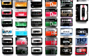 Wallpaper sony, cassette tapes, collection