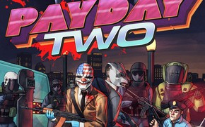 Picture The game, Police, Wolf, Art, Wolf, SWAT, Dallas, Dallas, Hotline Miami, Payday 2, Payday, Dennis, …