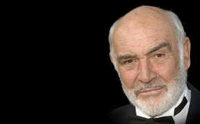 Picture look, actor, black background, actor, view, producer, black background, Sean Connery, Sean Connery