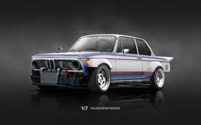 Picture Auto, Figure, BMW, Machine, Car, Car, Art, Art, 2002, Rendering, 1974, Speedhunters, Tribute, Yasid Design, …