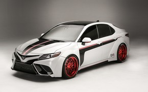 Picture white, background, tuning, Toyota