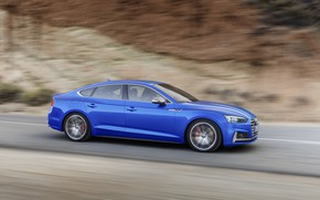 Picture Audi, German, Blue, Speed, 2018, Road, Drive, A5, S5