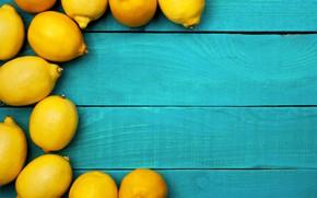 Picture yellow, lemon, citrus, blue background