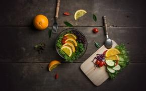 Picture orange, vegetables, vitamins, slices, salad, tomatoes-cherry