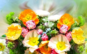 Picture Graphics, Flowers, Colored