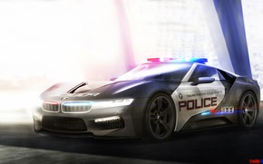 Picture Auto, Figure, concept, BMW, Police, Machine, Art, Cars, Rendering, Yasid Oozeear, ArtStation, BMW Zi8, BMW ...