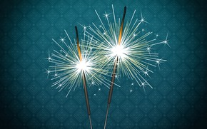 Wallpaper Minimalism, Lights, Christmas, Background, New year, Sparks, Holiday, Sparklers