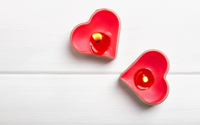 Picture candles, hearts, red, romantic, hearts, Valentine's Day, candles