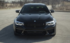 Wallpaper BMW, Black, Face, F90