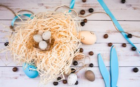 Picture holiday, eggs, Easter, socket, hay