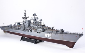 Wallpaper model, project 956, 670, Modern, destroyer, squadron, head