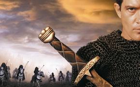 Picture cinema, sword, man, movie, ken, blade, horse, film, viking, Antonio Banderas, arabic, cannibals, 1999, chain …