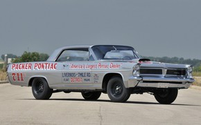 Picture Race, Pontiac, Old, Silver