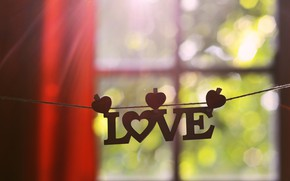 Picture love, window, love, the word