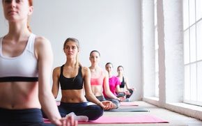 Picture pose, group, Yoga