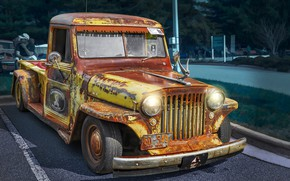 Wallpaper Vintage, 1947, Rat Rod, Willys, Retro Cars