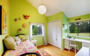 Picture room, bed, window, Design, room, children's, Interior