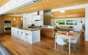 Picture interior, kitchen, living room, dining room, Home in Pacific Palisades