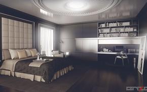 Picture computer, furniture, the room, furnished, Bedroom design